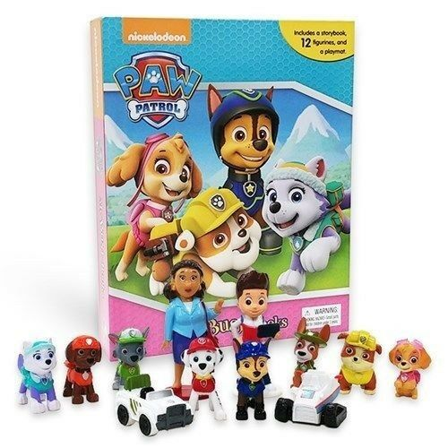 BNIB: Paw Patrol Girls My Busy Book including 12 figurines and playmat