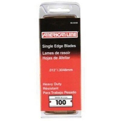 American Safety Razor 66-0448 American Line .012 Heavy Duty Single Edge Blade