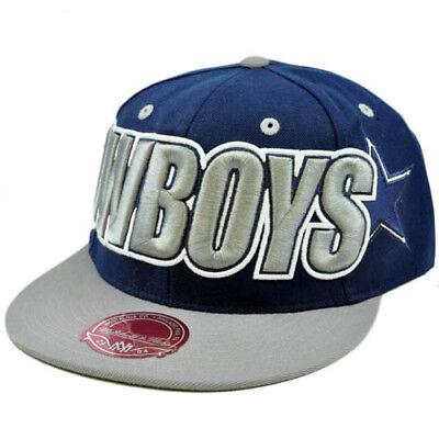 NFL Mitchell Ness Throwback Logo Retro Wordmark Fit Cap Hat TT48 Dallas Cowboys