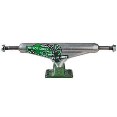 """Independent 144 Forged Hollow Chris Joslin Skateboard Trucks (Green) Set/8.25"""""""