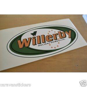 WILLERBY Holiday Home - (OVAL) - Caravan Sticker Decal Graphic - SINGLE