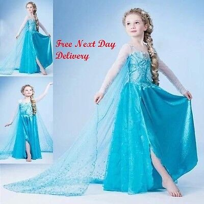 Frozen Elsa Kostüm Alter 3 4 (Frozen Elsa Party Kostüm Blau Alter 3-4-5 6 7 8 Jahre Cosplay)