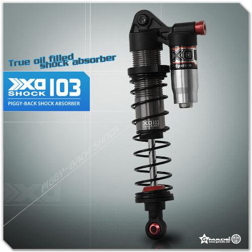 Gmade 1/10 TRUCK Shocks SUSPENSION Piggy Back XD Aluminum 103MM (2)  #gm21007