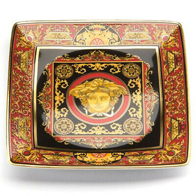 ROSENTHAL VERSACE MEDUSA RED SQUARE DISH 12CM W/ AUTHENTICITY CARD RRP$169.00 - Medusa Red Square