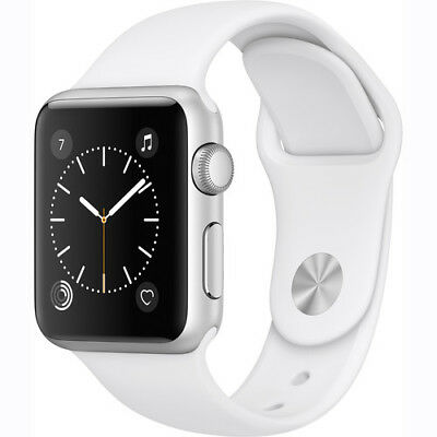 Apple Watch Gen 2 Series 1 38mm Silver Aluminum - White Sport Band MNNG2LL/A