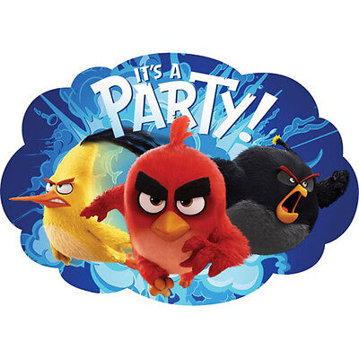 ANGRY BIRDS MOVIE INVITATIONS (8) ~ Birthday Party Supplies Stationery Card Note ()