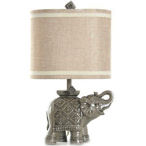 Elephant table lamp ebay better homes and gardens elephant table lamp gray w mozeypictures Gallery