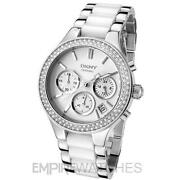 DKNY Ladies White Ceramic Watch