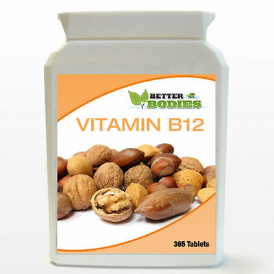 Better Bodies Vitamin B-12 1000mcg High Potency 1-a-day 365 TABLETS YEAR