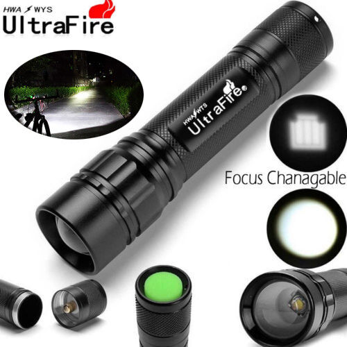 Ultrafire 18650 Zoomable Flashlight Tactical 20000 LM 3 Mode T6 LED Torch Lamp