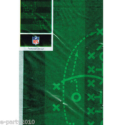 NFL PARTY PLASTIC TABLE COVER ~ Sports Birthday Party Supplies Decorations Green