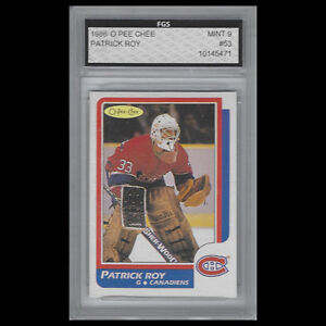 PATRICK ROY GRADED ROOKIE CARD PLUS OTHERS