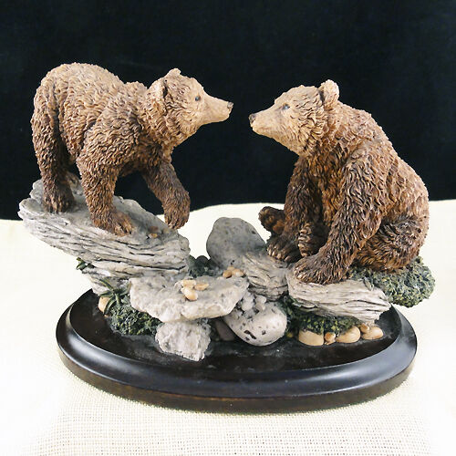 """BEARS PAIR 3.75"""" tall Country Artists England NEW NEVER SOLD porcelain"""