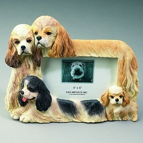Cocker Spaniel Dog 4x6 Picture Frame By E&S Imports ~NEW~