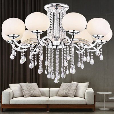 Luxury Modern Chandelier Crystal Ceiling Light Fixture Pendant Lamp 9 Light XMAS