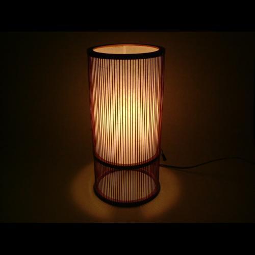 "Japanese Handmade Bamboo Floor Lantern "" Tsutsu-Maru "" 36.5cmH by Miyabi Andon."