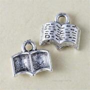 Silver Book Charm