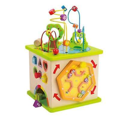 Hape Country Critters Wooden Children's Play Cube Activity Block Toy (Open Box)