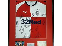 SALE on Celtic, Rangers and more signed memorabilia. Signed Shirts, Boots & Pictures