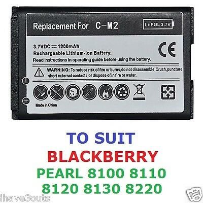 Blackberry Pearl 8100 8110 8120 8130 8220 1200mAh CM-2 Replacement Battery - Blackberry Pearl 8100 8130