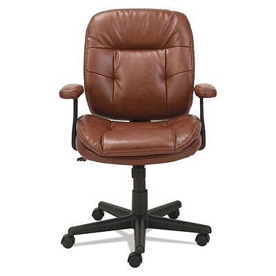Oif St4859 Swiveltilt Leather Task Chair, Fixed T-bar Arms, Chestnut Brown 5