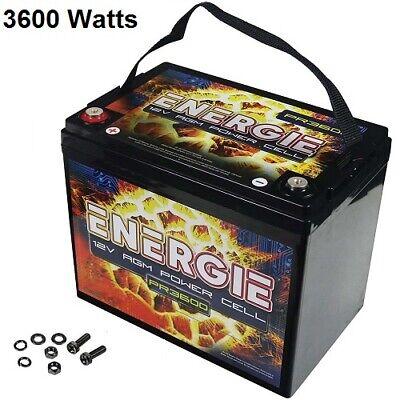 Car Audio 12 Volt Power Cell Battery PR3600 3600 Watts / 75A