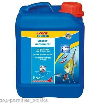AKTION !!! 2,5 Liter Kanister Wasseraufbereiter sera aquatan - entfernt Chlor..