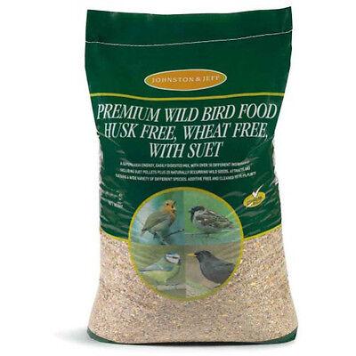 20kg Johnston & Jeff Premium Added Suet Husk Free Wild Bird Seed