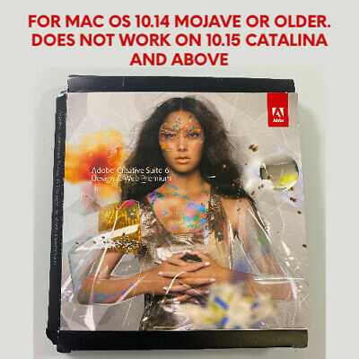 Adobe Creative Suite 6: Design & Web Premium for MAC (OS 10.14 and older)