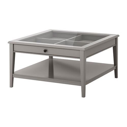 Ikea Grey Coffee Table With Glass Top And Drawer In Surbiton London Gumtree