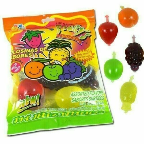 Tik Tok Din Don Bag of Fruity's Snack Jelly Fruit 11.03 oz 8 pieces