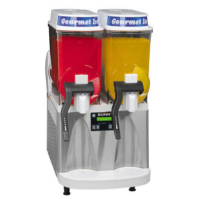 Double Bowl Frozen Drink Machine - Whitestainless Base