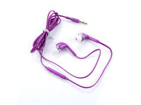 3.5mm In-Ear Headset With Volume Control Purple