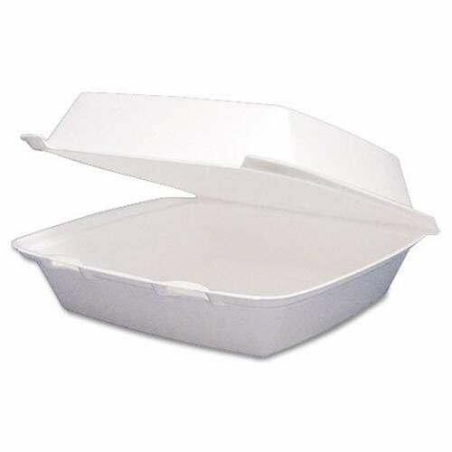DART 85HT1 Carryout Food Containers,foam Hinged