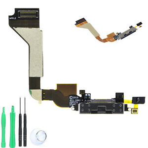iPhone 4 Dock Connector USB Charge Charging Port Flex Cable + MIC