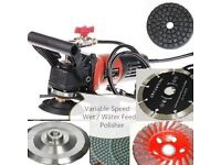 Wet Polisher Grinder stone cutter Lapidary Saw 23 Pad Blade floor Granite Cement