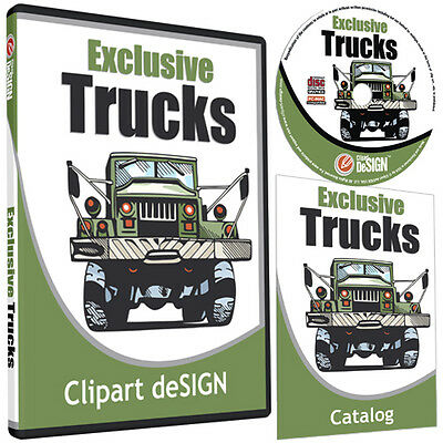 Trucks Clipart-vinyl Cutter Plotter Images-eps Vector Clip Art Cd