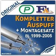 Auspuffanlage Opel Zafira