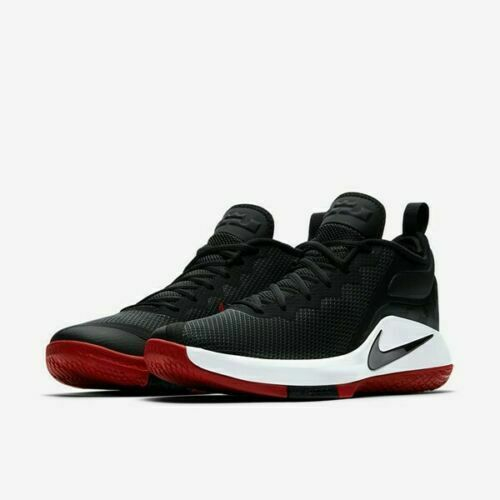 sports shoes 99b71 d2d0c Nike LeBron Witness II Basketball Shoes Black-White-Gym Red 942518-006  Men's NEW