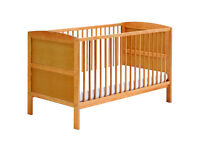 Wooden Cot Bed With Mattress