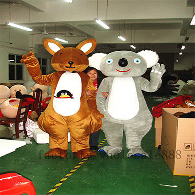 Cute Bear Costumes (Cute Cosplay Adult Koala Bear Kangaroo Mascot Costumes Suit Outfit Party)