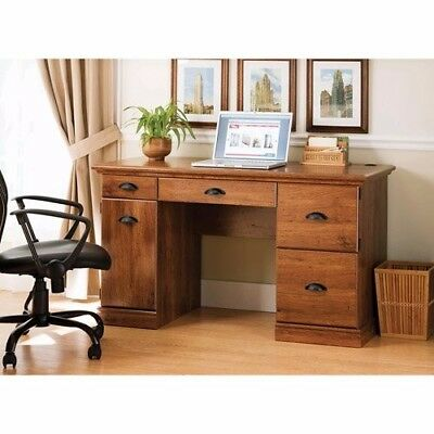 Better Homes and Gardens Computer Desk, Brown Oak Home Office