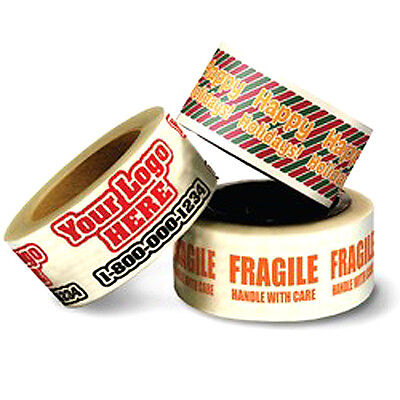 Custom Printed Packing Tape. Carton Box Sealing. 36 Rolls - 2 X 55 Yards.