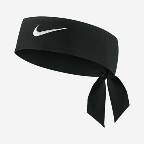 Nike Swoosh Dri-Fit Black White Unisex Head Tie Headband New Headtie band