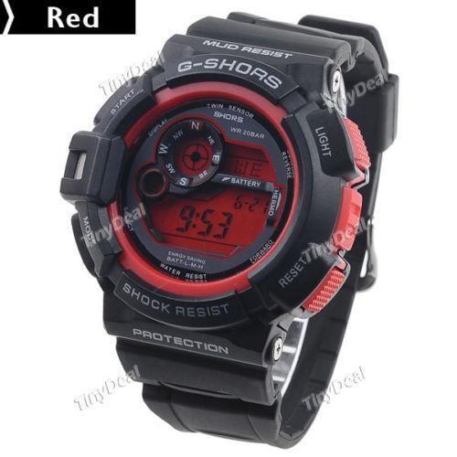 mens lcd digital watches ebay
