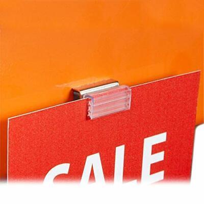 Mini Magnetic Card Grip Flush Sign Holder For Gondola Metal Shelves Pallet R