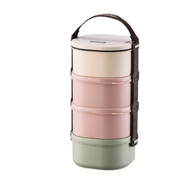 Lock & Lock Light Mini 4 Tier Lunch Box Sets Bento Food Containers HPL772