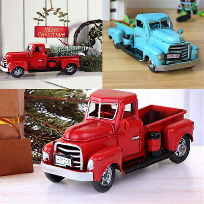 - Vintage Red Metal Truck Easter Ornament Kids Xmas Gifts Toy Table Top Decor USA