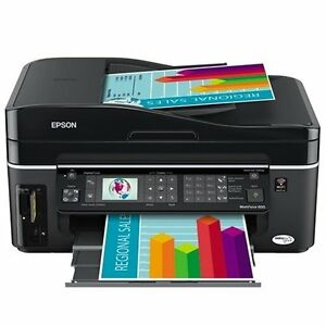Epson WorkForce 600 Wireless All-in-One Printer (Black)