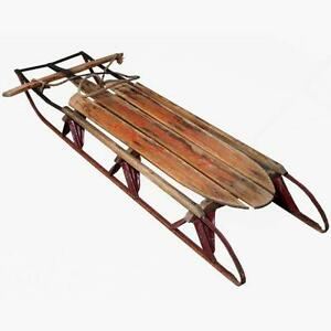 Old Fashioned Wood Sleigh